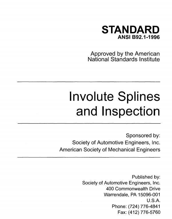 design guide for involute splines