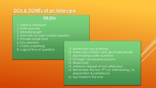 in depth interview guide sample