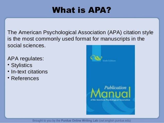 american psychological association style guide