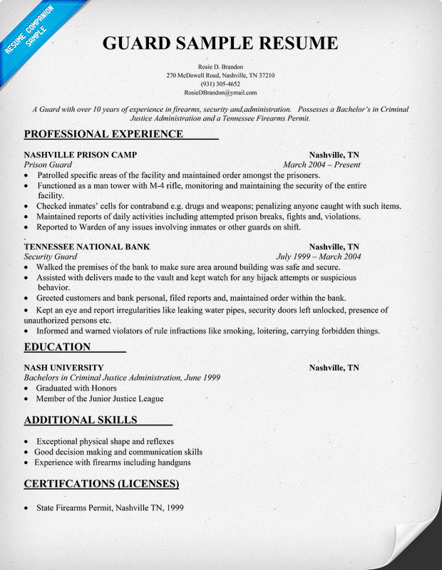tour guide resume cover letter