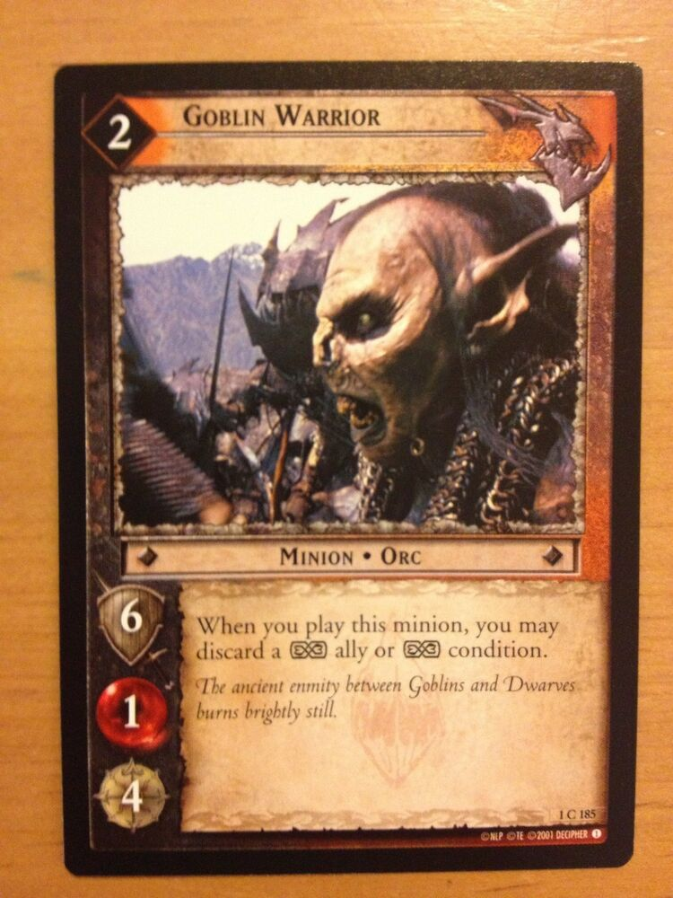 lord of the rings trading card game price guide