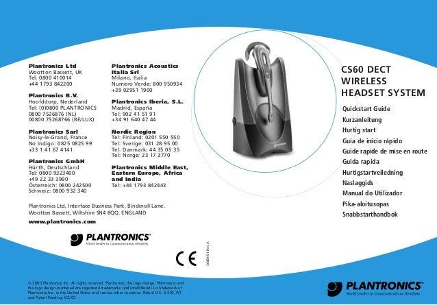 plantronics cs60 quick start guide